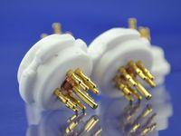Wholesale 2 set pin Ceramic Machine made gold plated tube socket X4