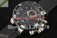 Sport Men's Round Luxury Carlos Coste Stainless TT1 Diver Men's Automatic Watch Date Mens WristWatch Black Rubber Band