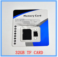 TF / Micro SD Card 32GB 10 DHL EMS New 32GB SD Card TF Memory Card Class 10 Flash SDHC Cards Adapter Free Retail Package txperia e dual, xperia e, xperia t lte, xperi