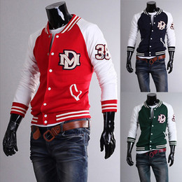 Wholesale 3048 New HOT Men s Casual Letters embroidered baseball Slim influx of men Hoodies amp Sweatshirts Jacket Coat