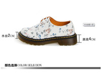 shoes - Women Shoes Spot Wispy Floral British Rural Style Pastoral Rubber Soles Martin Cloth Shoes Canvas Shoes With High Quality
