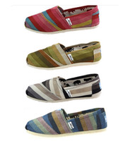 EMS shipping NEW Women's Classic tom color stripe canvas EVA...