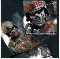 horror masks - 3PCS M05 Zombie Half Face Mask The Walking Dead Masks CS Protect Mask Scary Horror Living Dead Mask