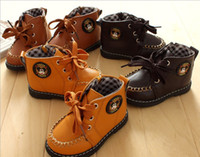 Unisex Spring / Autumn  10%off!Winter style side zipper style baby toddler shoes, children's casual leather shoes sale, cheap boy shoes ,baby wear.5pairs 10pcs.ZL