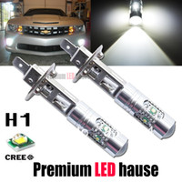 Wholesale H1 High Power Cree W Lens LED Constant Currency DC V V Supper White HeadLight LED Bulb Fog Lamp