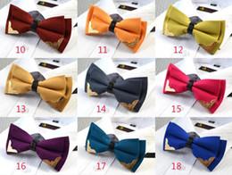 TOP Quality Men Neck Metal Decoration Bowtie Bow Tie Solid Color Pre-Tied Adjustable Tuxedo Bow Ties