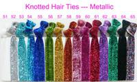 Wholesale girls Shimmery Hair Ties bracelet Ribbon hair tie elastic wristbands ponytail holder pcsTR