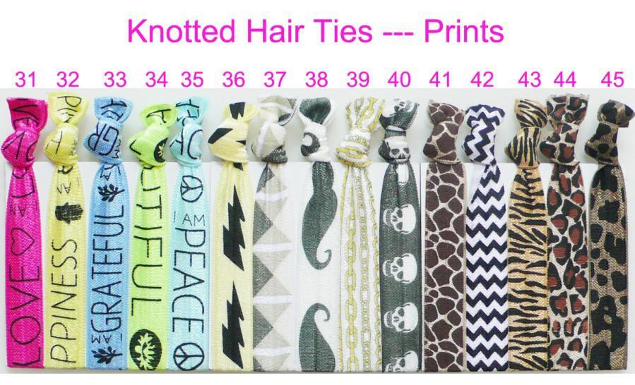 Chevron Hair Ties Wholesale 12