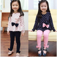 Wholesale Children s clothing spring new girls baby casual two piece fashion sets kids T shirt and pants suits
