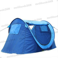 Wholesale 2013 New Waterproof Oxford Camping Tents Double Camping Tents Auto Open Outdoor Tents Two door Lovers Travel Tents Sleep Tents MYY5750