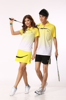 Wholesale 2013 the gradual change money lovers of moisture for male and female badminton suit