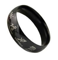 Three Stone Rings   Black titanium fashion ring male jewelry finger ring male