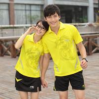 Wholesale New couples badminton suit dark dragon series of color selection