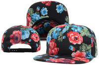 Wholesale beautiful Flower Blank Snapbacks Black blank cap nice beautiful flower snap back hat nba sport snapbacks hat mlb blank snapback cap