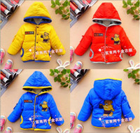 Wholesale kids clothes children coats boy winter coat bear children clothing baby jacket cotton coat