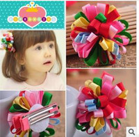 Hair Sticks Lace Solid Han edition children hair ribbon threaded ball, plastic resin children hair accessories wholesale