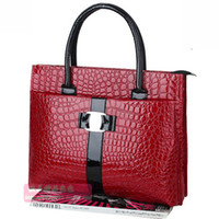 Wholesale Crocodile Totes Vintage Designer Handbags Solid Color Leather Shoulder Bag Women Fashion Bags Red Black SL0909