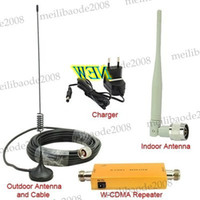 Wholesale Up to Square Meters WCDMA MHz G RF Repeater Mobile Phone Signal Booster Signal Amplifer Kit MYY5753