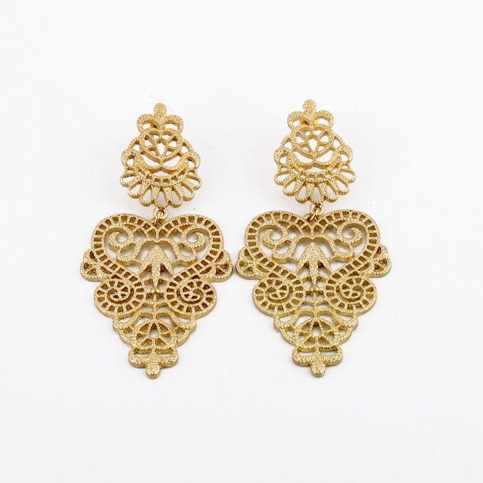 Gold earring designs for women tops - Ratejna