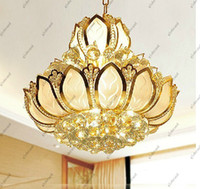 Wholesale high quality luxury lotus crystal chandelier pendent lamp with Name Brand mm diamater GHJC200