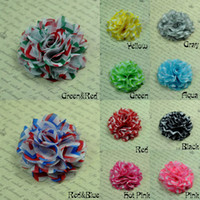 Wholesale Trail Order Chevron Chiffon Flowers Fabric Flowersc Perfect for Baby headbands Hair bows QueenBaby