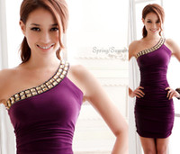 Wholesale Womens Short Mini Women s Bridesmaid Dress Evening Cocktail Party Prom Ball Gown