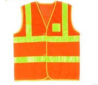 Wholesale Reflective vest screen cloth PVC reflective tape safety vest printing reflective vest highways sanitation reflective vest highway safety