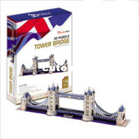 Wholesale Retail Paper D Puzzle Model London Tower Bridge pieces for kids and adults