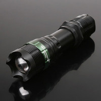 Wholesale Cree T6 Zoomable LED Flashlight W Lumens Led Torch Convex Lens Flash light for Camping Hiking pc