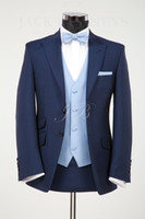 best linen suit - Custom made New Groom Tuxedos Best man Wedding Groomsman Suit Groomsman Bridegroom Suits Jacket Pants Tie Vest