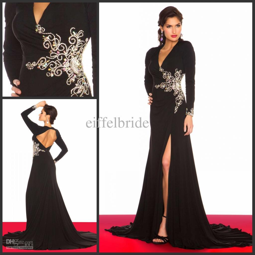 Long Sleeve Evening Dresses Fashion 2014 Elegant Evening Dresses ...