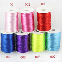 2.0mm Cord & Wire party Jewelry Making DIY 2.0mm Multicolor Mix colors Satin Cord Chinese Knot Beading Cord: 80m Jewelry Cord Jewelry Findings LM-PS001 wholesale