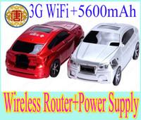Vente en gros - Livraison gratuite WiFi 802.11b / g / n 50Mbps Mlti-fonctionnelle voiture en forme 3G sans fil Router WiFi AP 5600mAh Power Bank