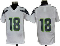 Football Boys Short Youth Popular Seahawk Team Sportswear Game Sidney Rice Activewear White 18 American Football Jersey 2013 Wide Receiver Sports Shirts