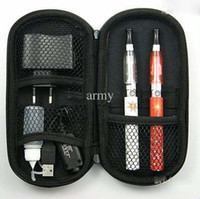 Electronic Cigarette Set Series  Wholesale-100pcs eGo CE4 1100mah Electronic Cigarette kit with white carry case double cigarettes kit Star print battery e-cig free shipping