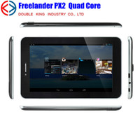 Wholesale 2014 New inch Freelander PX2C G phone call Tablet PC GB GB MTK8382 Quad Core Ghz Android GPS Dual Sim Dual Camera MP phablet