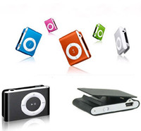 Wholesale goog quality Colorful player Metal Clip Mini Clip sport MP3 Player no screen without memory DHL