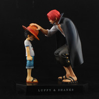 Wholesale Anime One Piece Memory Of Childhood Monkey D Luffy and Shanks PVC Action Figure Toy