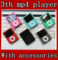 Wholesale 1 quot TH MP4 MP3 Music PLAYER GB GB With Video Voice Recorder FM DHL With earphone usb cable retail box
