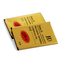 Wholesale High Capacity mAh Gold Battery EB L1G6LLU For Samsung Galaxy S3 I9300 Business Batterie Batterij Bateria