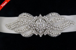 Wholesale 2014 Free Shinning Shinning Crystal Beads Floral Rhinestone Wedding Dress Belt Wedding Accessory