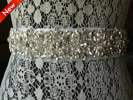 Wholesale 2014 Luxury Noble Wedding Belt Crystal Beads Pearl Floral Rhinestone Wedding Dress Belt Wedding Accessory