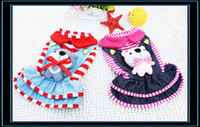Wholesale Pet Clothing Lovely Puppy Jean Dress Dog Skirt for Christmas Decoration Costume Pink and Red Color YL