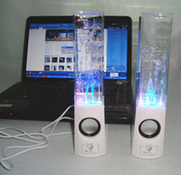 2 Universal for MP3/MP4,cellphone,laptop etc. Dancing Water Speaker Portable Music Audio 3.5MM Player for Iphone 4s 5 USB LED Light Active for Led Mp3 player Laptop PC MP3 MP4 PSP
