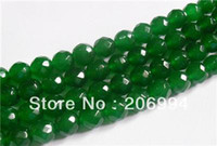 Wholesale mm Natural Emerald Faceted Loose Beads Gemstone quot AAA pc fashion jewelry
