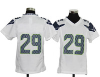 Wholesale Fashion Youth Seahawks Team American Football Jersey Free Safety Sports Uniforms Game White Activewear Earl Thomas Sportswear