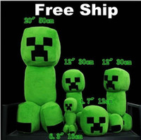 Wholesale Minecraft Creeper Character Plush Soft Toy Stuffed Animal Doll Green JJ Monster