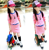 Girls Fancy Casual Red Black Lime Cotton Stripe 2 in 1 Skirt...