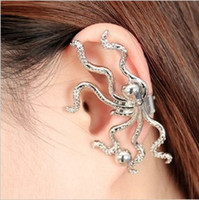 Wholesale New Punk Vintage Earrings Octopus Ear Cuff Warp Clip Fashion Jewelry Womens Earrings Clip on A