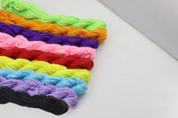 party Cord & Wire  Wholesale DIY jewelry 1mm diameter Nylon rope Chinese knot multicolored nylon rope beaded bracelet free shipping LM-PS009